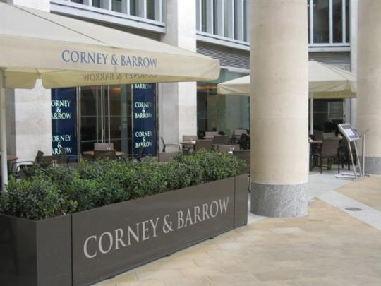 Scene of far too many gins...Corney & Barrow! Paternoster Sq