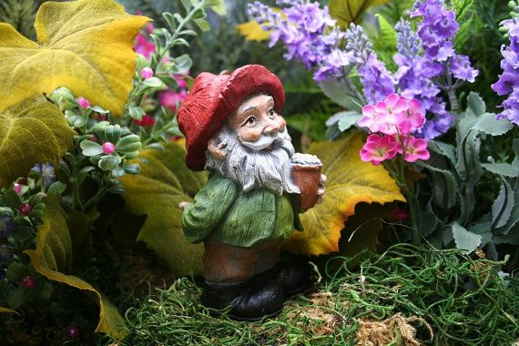 Beer Drinking Gnome - this one is small so you can hide it just out of sight and smile to yourself when you catch sight of it.
