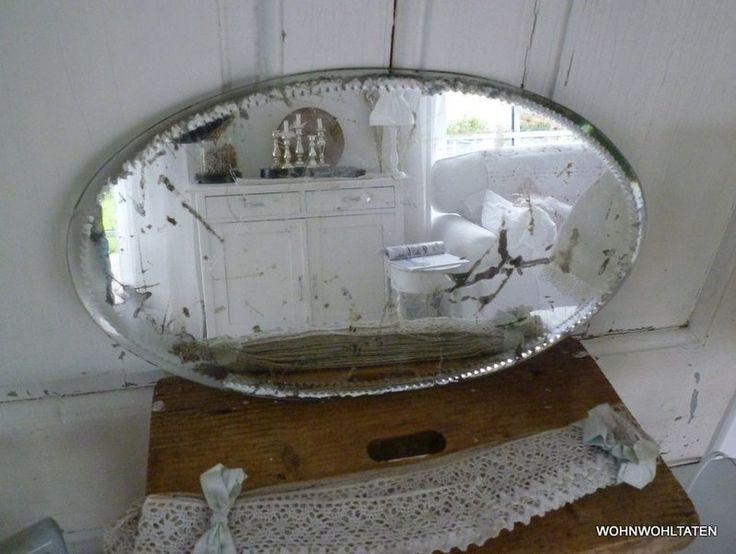 Uralter ovaler Spiegel von Wohnwohltaten auf DaWanda.com