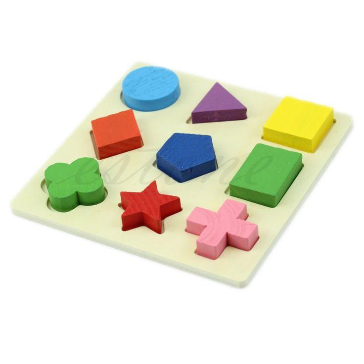 Купить товарM89 бесплатная доставка дети детские деревянные геометрии обучение образовательные игрушки головоломки монтессори раннего в категории Пазлына AliExpress.     Описание:            Нетоксичные краски.         Обучение головоломки для детей.         Стремится тренировать