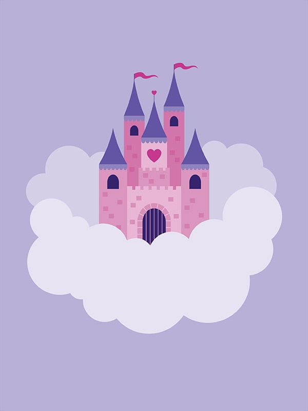princess castle wall mural