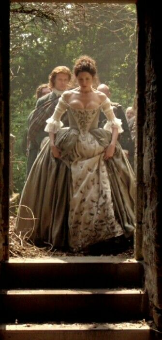 Outlander 1x07 The Wedding. I don't know how she didn't pop right out of her corset!