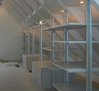 Ideen für Dachbodenstauraum