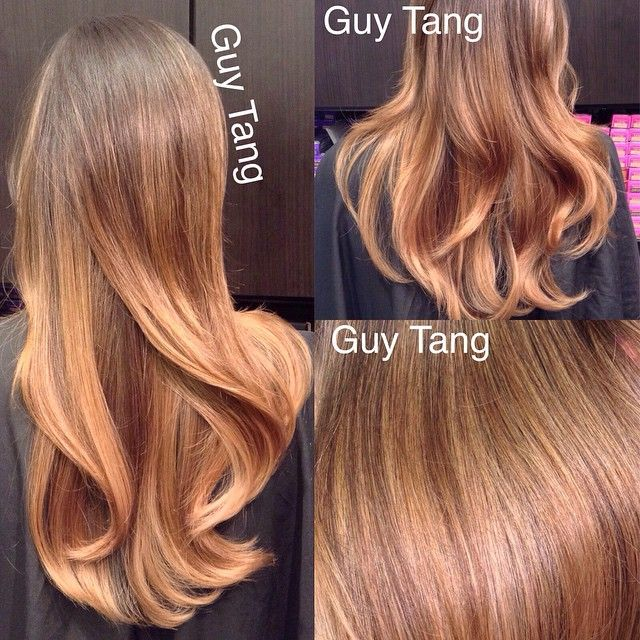 #balayage moments. lifted to a level 9 and toned with #redken #shadeseq 09gi 09rb #guytang #balayage #ombre