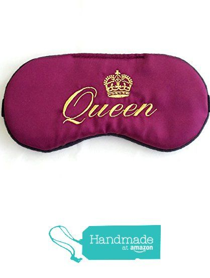 Queen Sleep Mask Dark Red Satin Eye Mask Blindfold Eye Mask Bachelorette Party…