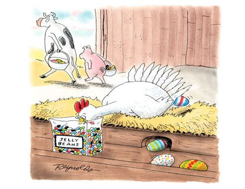 how we get colored eggs