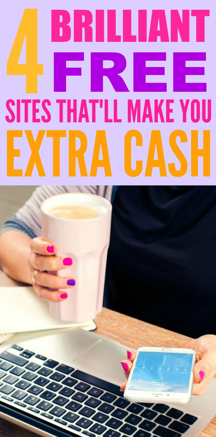 I love these 4 free sites that'll make you extra cash! I'm so glad that I found these GREAT tips! Such good ideas and something I can pay my bills with! Definitely pinning for later!