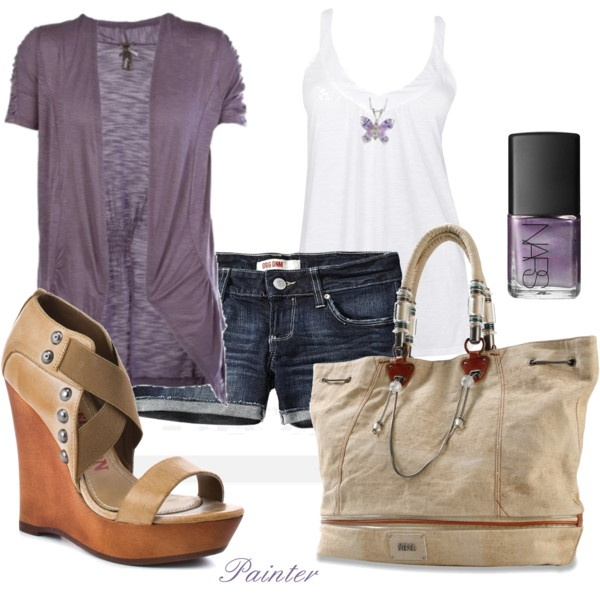 : Mels777, Fashion, Style, Outfit, As, Polyvore, Purple Love, Olive