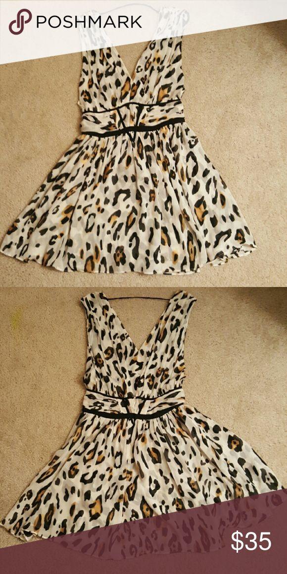 Victorias secret dress leopard print Very nice dress in light material Victoria's Secret Dresses Mini