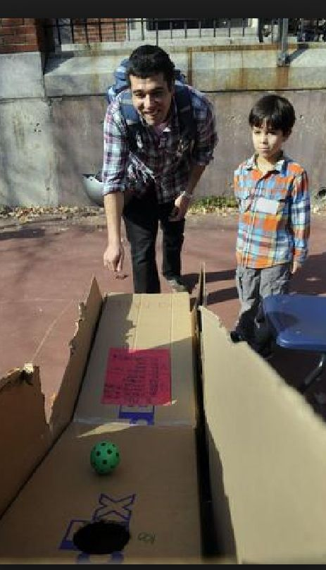 Cardboard skeeball arcade game