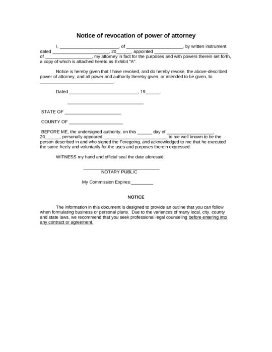 writing a power of attorney document