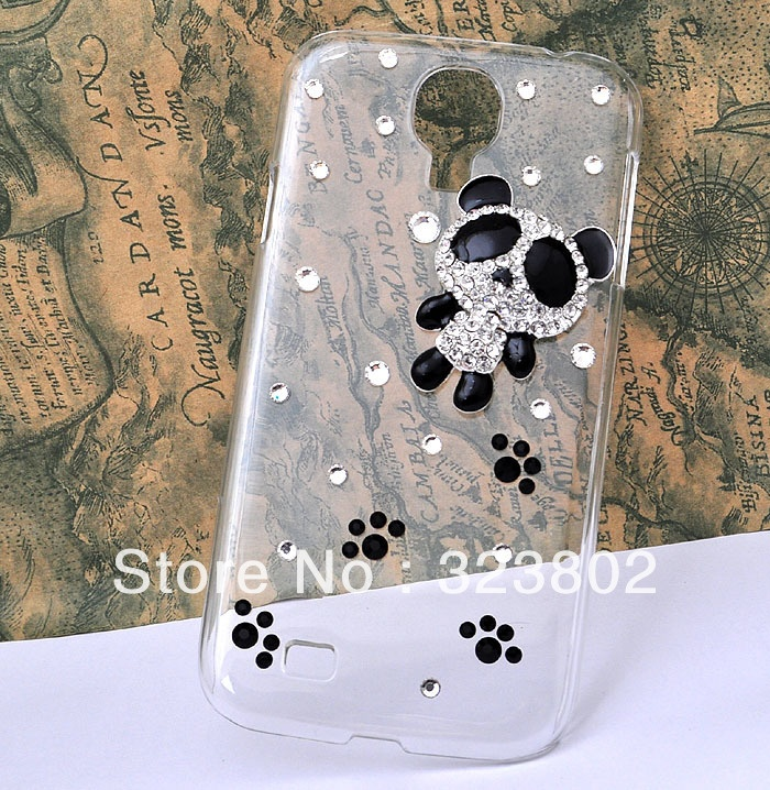 Aliexpress.com : Buy Handmade Clear Transparent Crystal Rhinestone Hard  Case Cover For Samsung GALAXY S4 or IV i9500 with Alloy Panda from Reliable case for GALAXY s 4 suppliers on Cell Phone Case Rhinestone Button Bead Resin Craft Alloy Jewelry $8.90