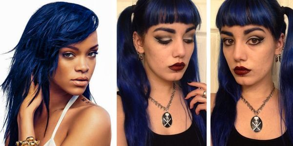 Impressive hairstyles for trendy girls! Εντυπωσιακά μπλε μαλλιά για όσες τολμούν!