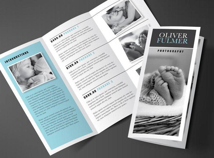 "Tri-fold Brochure Template - Blue ""Serenity"""