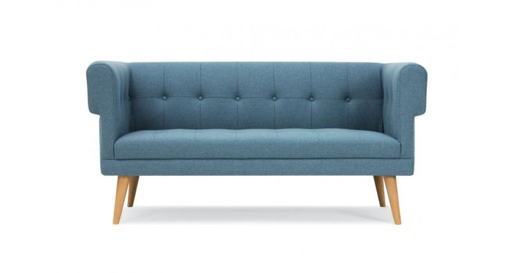 Harry, 2-seater sofa, Andie grey blue