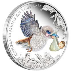 Newborn Baby 2016 1/2oz Silver Proof Coin