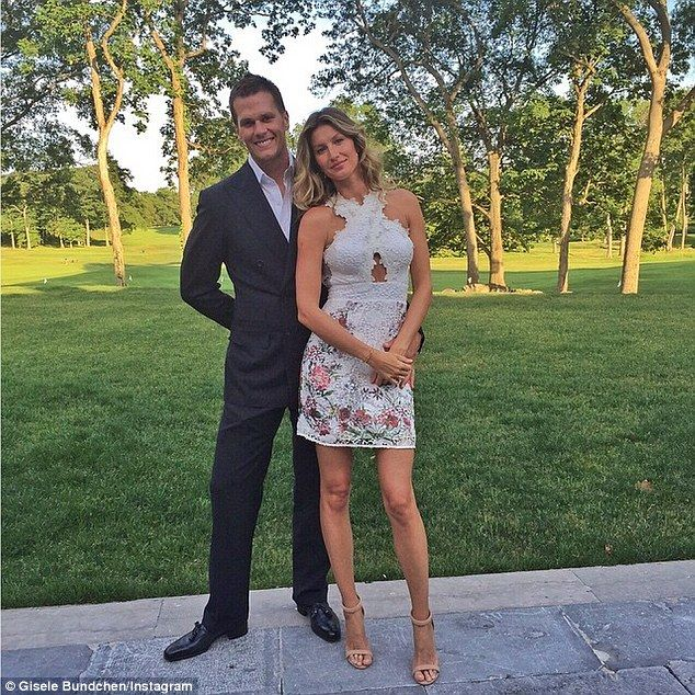 Gisele Bundchen: The former Victoria's Secret model posed beside her husband Tom in an Insta...