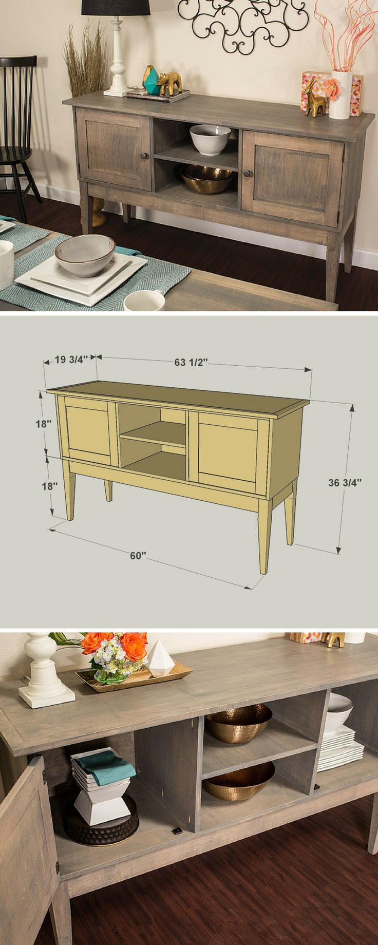 How To Build A DIY Dining Room Sideboard