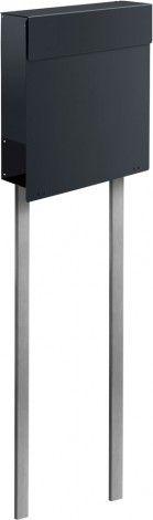 Frabox Design Standbriefkasten NAMUR Stahl lackiert mit Edelstahl-Stand von frabox - MK-DB1020-RAL-GLAENx+DF-1010-GLAEN online kaufen in unserem Shop | www.bruh.de