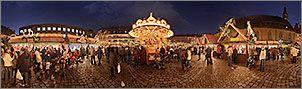 Christkindlesmarkt Nürnberg Panorama Bilder - Kinderweihnacht auf dem Hans-Sachs-Platz - p038