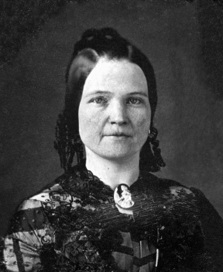 Mary Todd Lincoln, wife of Abraham Lincoln. Three-quarter length portrait, seated, facing front. Nicolas H. Shepherd, photographer. 1846