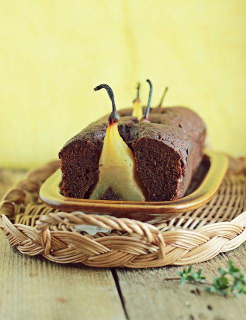 Bezglutenowe czekoladowe ciasto z gruszkami - Zielenina