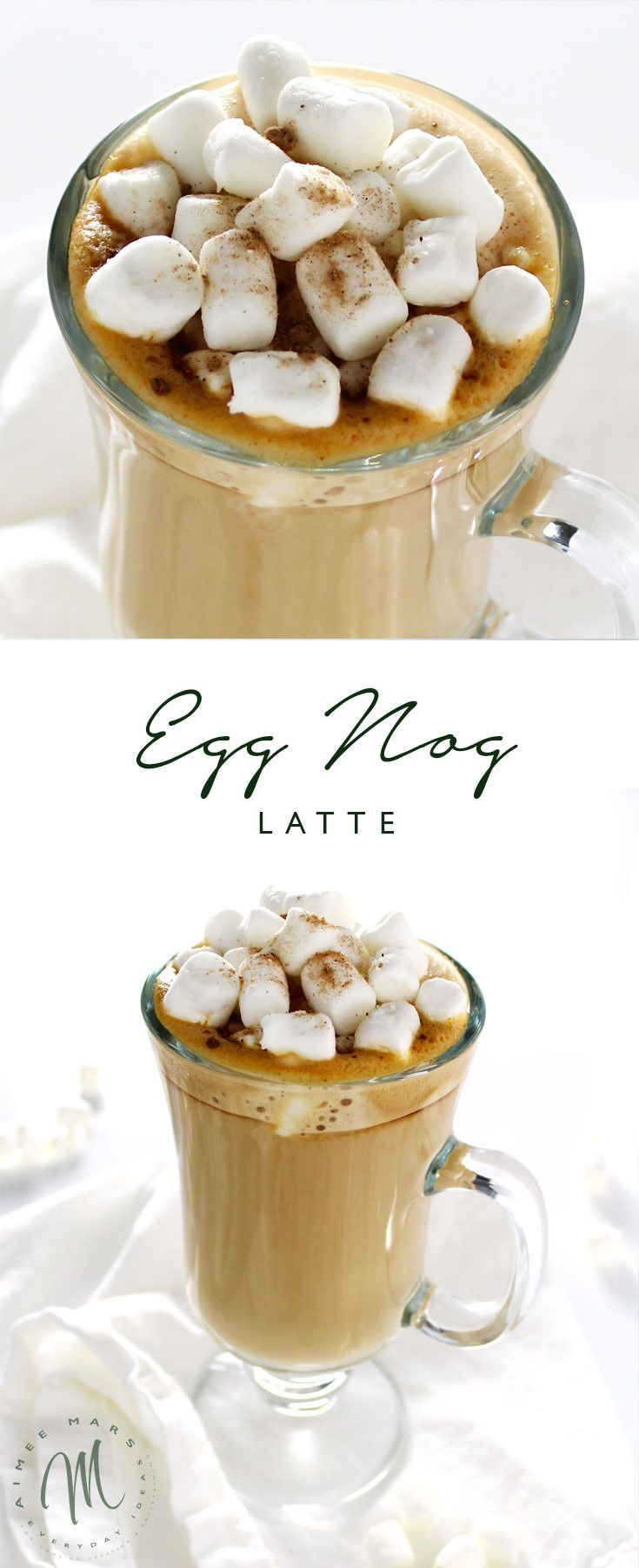This decadent Egg Nog Latte recipe is so easy to make you could do it in your sleep every morning and the perfect treat to sip while opening holiday gifts.