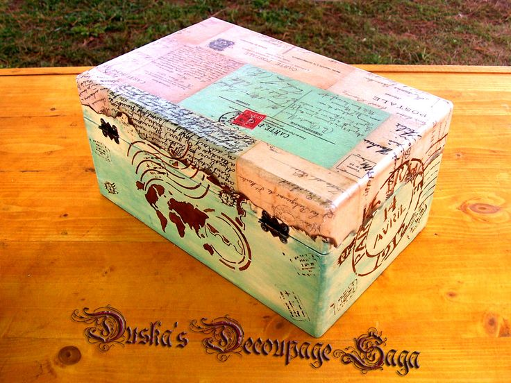 Duska's Decoupage Saga Vintage Boxes