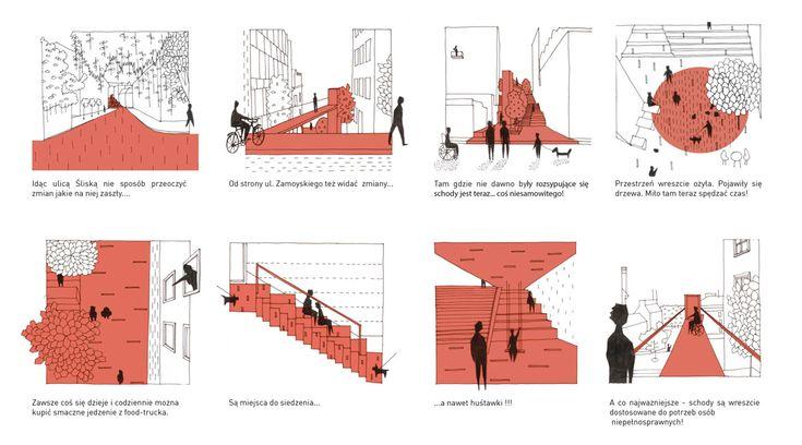 Schody na ulicy Śliskiej w Krakowie. Autorzy projektu: arch_it   Piotr Zybura