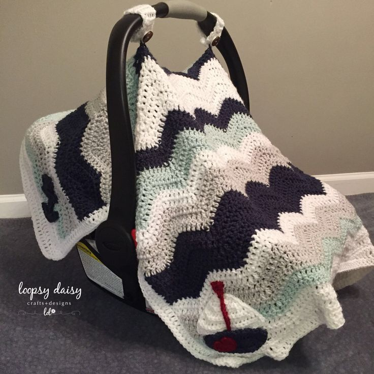 This Nautical Carseat Canopy Can Also Be Used As A Blanket It Has Removable Straps