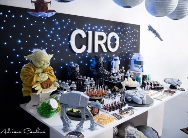 star wars table decorations found on karaspartyideascom - Star Wars Decorations