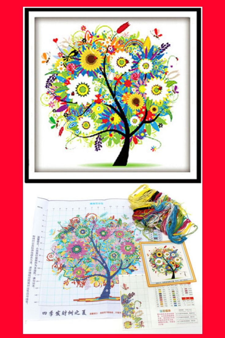 Tree Cross Stitch Pattern