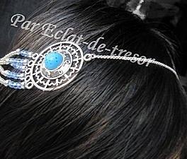 Headband Sphère bleue turquoise