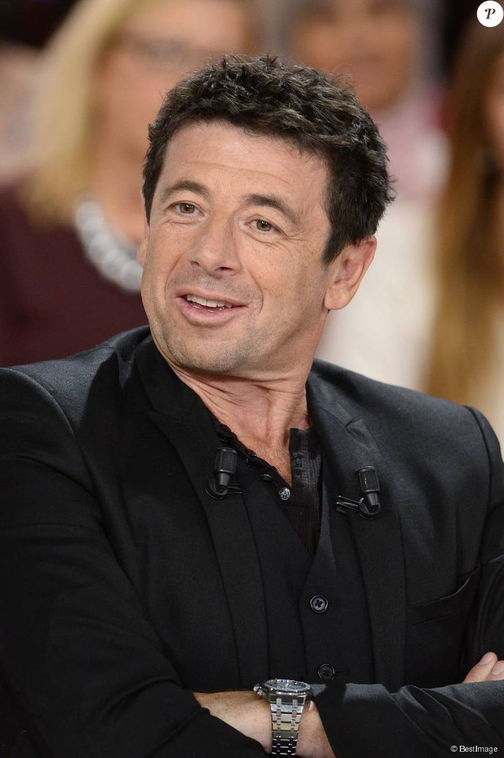 """Patrick Bruel - Enregistrement de l'émission """"Vivement Dimanche"""" à Paris le 13 octobre 2015 et qui sera diffusée le 18 Octobre 2015. Invité principal : Marthe Villalonga."""