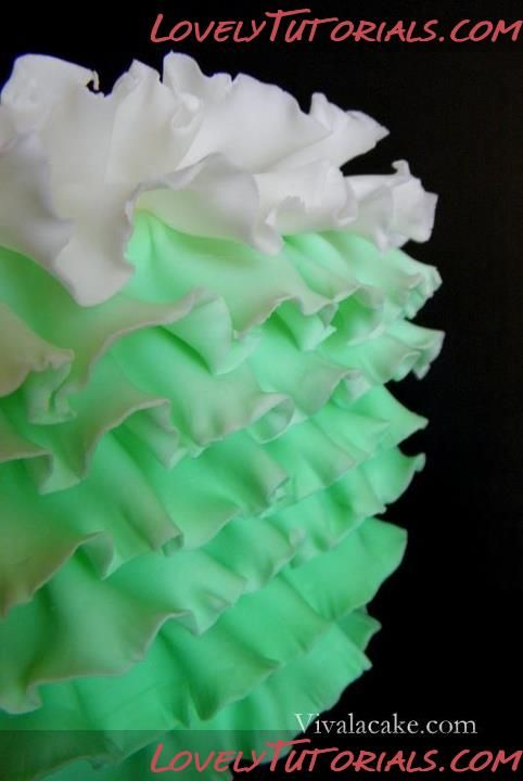 How to make Ombre Ruffles