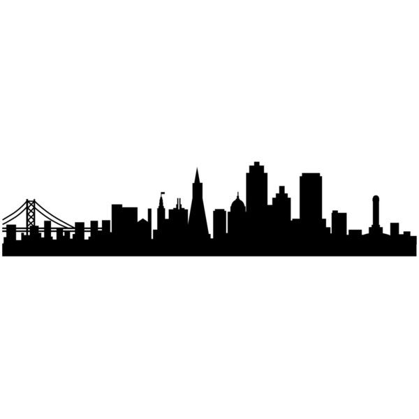 San Francisco City Skyline Silhouette Wall Art - Wall Decal Custom... ($20) ❤ liked on Polyvore featuring home, home decor, wall art, filler, wall stickers, silhouette wall decals, vinyl decals, reusable wall stickers and skyline decal