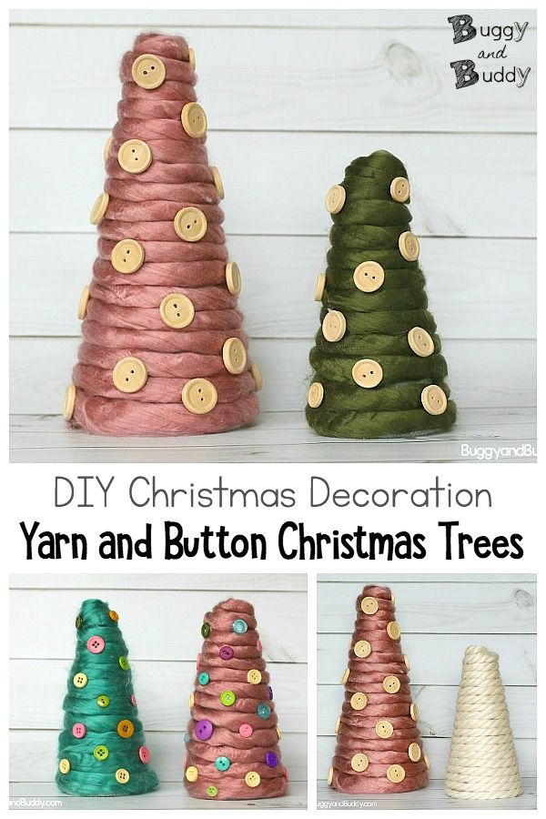 Yarn Wrapped Christmas Tree Craft Buggy And Buddy Diy Crafts Love Easy Diy Crafts Button Crafts
