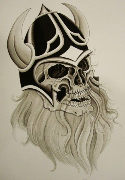 358 best images about tattoos on pinterest arm tattoos for Viking skull tattoo