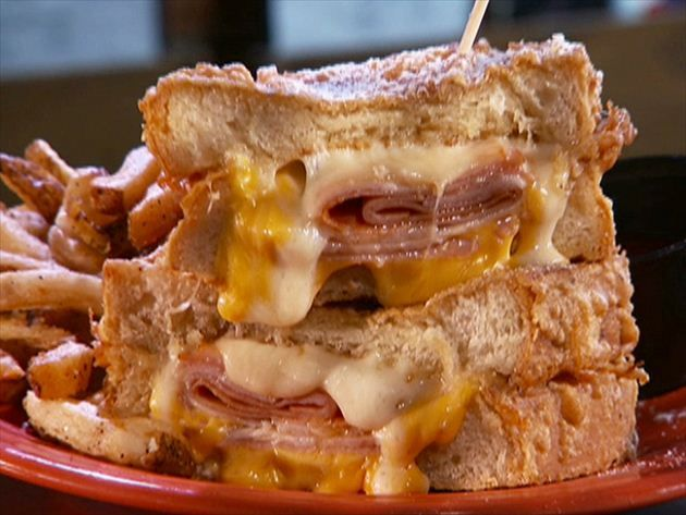 Guy visits Cleveland's Melt Bar and Grill, where grilled cheese is king.