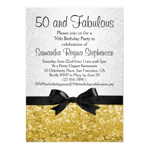 bow tie free 50th birthday party invitations templates