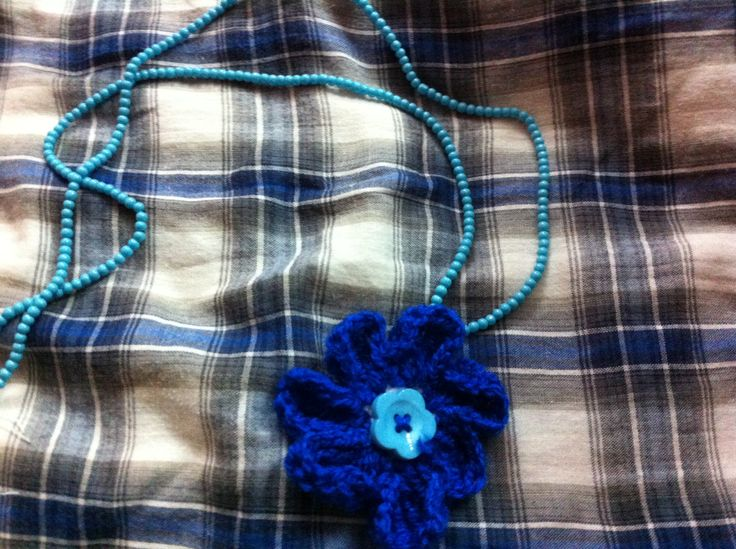 Blue crochet neck accessory!