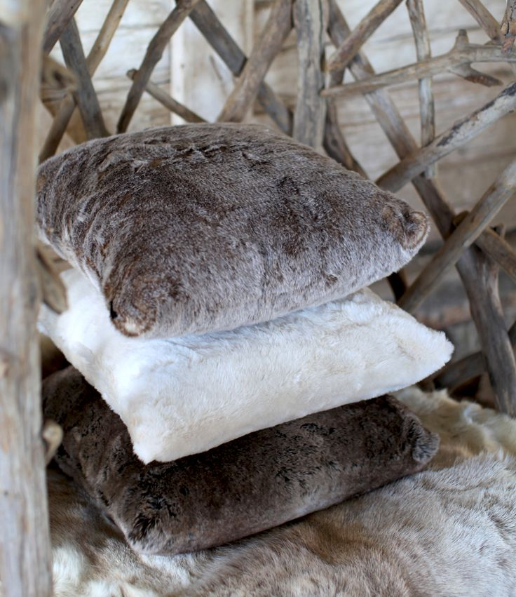 Whistler Pillows Brown Bear, Polarbear and Mink By Newport Collection