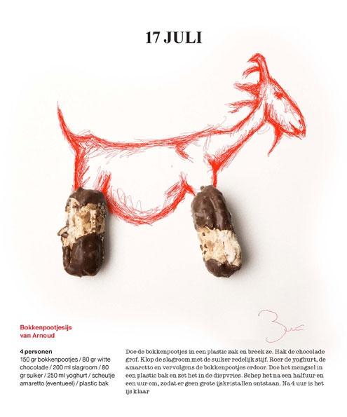 Toet en taart kalender - Uitgeverij Snor - BijzonderMOOI* - Dutch design
