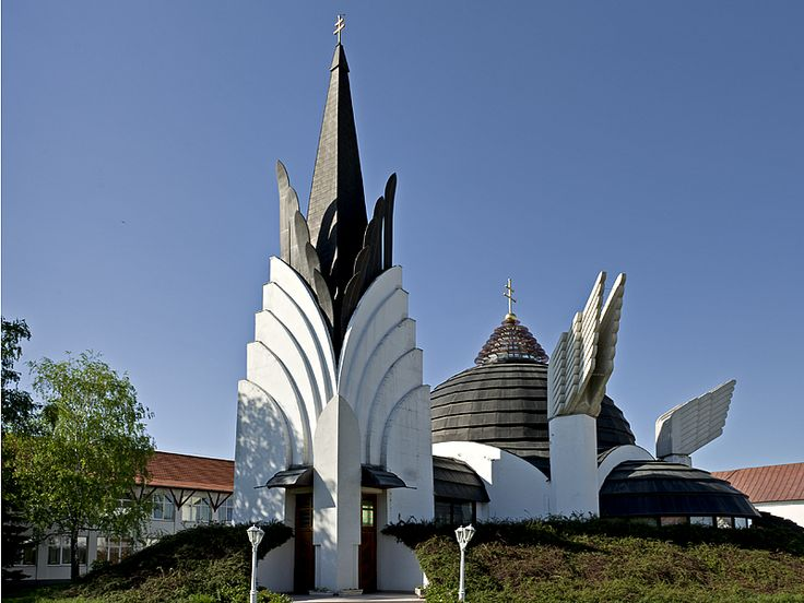 Greek Catholic church by Imre Makovecz, Csenger, Hungary near the Romanian border