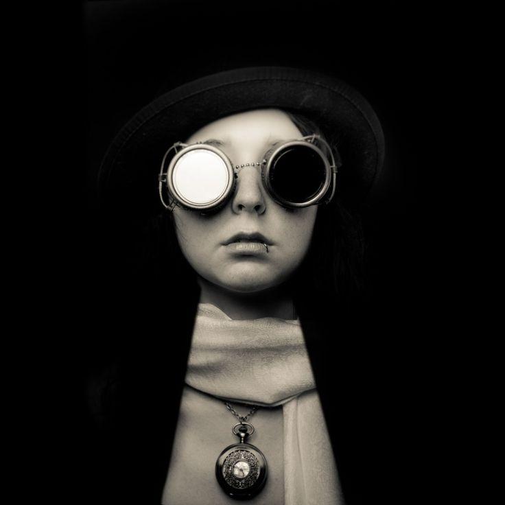 The Forgotten by Geoff Ridenour (©2012geoffridenour, www.geoffridenour.com) - Photo 10614779 - 500px.  #500px #blackandwhite #dark #glasses #summer #studio #portfolio #steampunk #steampunkfashion #strobe #profoto #piercing #d800 #aic #blairbost #hat #fashion #photography #augsburg #munich #muc #münchen #stuttgart
