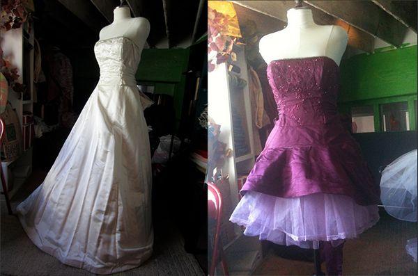 35 Wedding Dress Refashion Into Party Dress