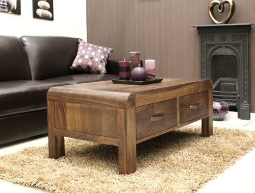 Shiro Walnut Four Drawer Coffee Table #wood #furniture #livingroom #lounge #bedroom #office #study #hallway #modern #contemporary #minimalist #interiorinspiration #home #interior #decor