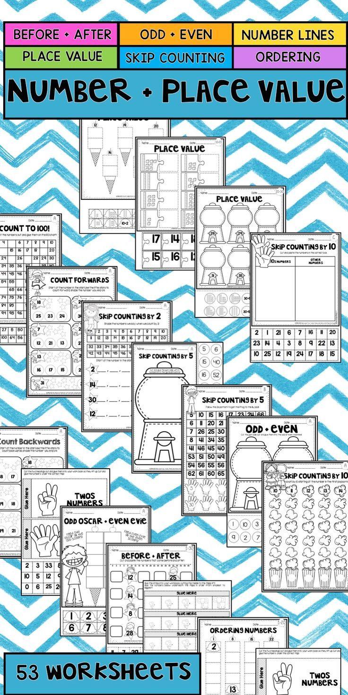 Number and Place Value Worksheet Mega Pack | Worksheets, Number and ...