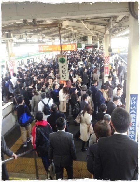 Busy Train,Tokyo