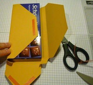 Stempelfix: Schokoladenfahrstuhl mit dem Punchboard inkl. Anleitung